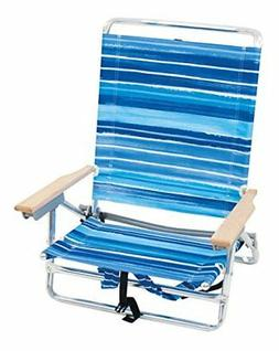 OpenBox Rio Brands 5 Position Classic Lay Flat Beach Chair -