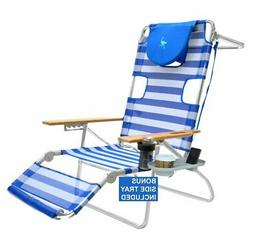 Ostrich 3 N 1 Beach Chair,  Lounger, Chaise with Side Tray