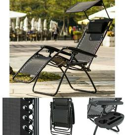 Outdoor Chaise Lounge Beach Chair Set Folding Chairs With Ca