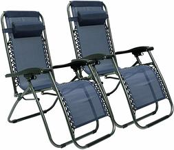 Outdoor Chaise Lounge,2 Pack -Portable Folding Chairs Camp