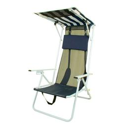 Outdoor Folding Reclining Sun Beach Patio Chair Navy Blue St