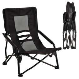 Outdoor High-Back Folding Beach Chair Strong Steel And Alumi