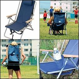 Outdoor RIO Gear Original Steel Backpack Chair Royal Blue Ca