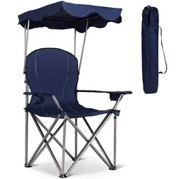 Outdoor Portable Folding Sports Beach Canopy Chair with Cup