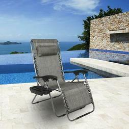 Oversize Zero Gravity Outdoor Reclining Lounge Out Beach Cha