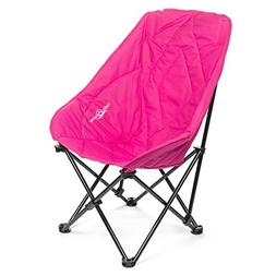 Lucky Bums Adult Oversized Folding Lounge Camp Chair, Pink,