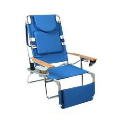 Ostrich 3 N 1 Beach Chair / Lounger / Chaise with Side Tray