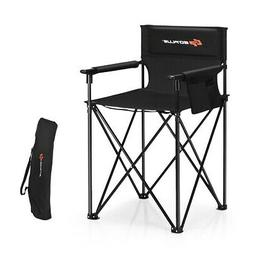 Portable 38'' Oversized High Outdoor Beach Chair Camping Fis
