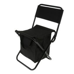 Portable Backpack Folding Chair with Cooler Bag for Fishing,