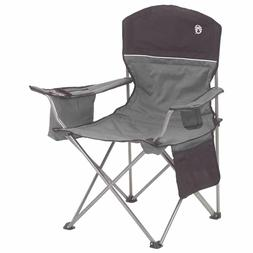 Coleman Portable Camping Quad Chair with 4-Can Cooler Free S