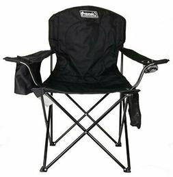 Portable Camping Quad Chair with 4-Can Cooler Folding  By Co
