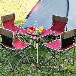 Portable Camping Table Chair 5Pcs/Set Folding Outdoor Hiking