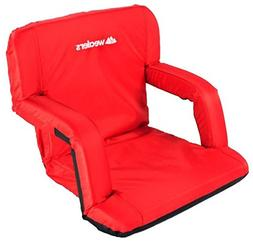 Wealers Portable Foldable Padded Recliner Seat with Handle,