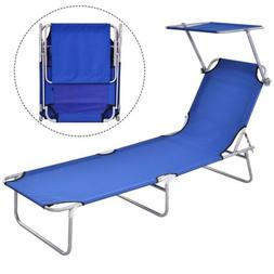 Portable Foldable Relaxing Lounge Beach Chair Camping Reclin
