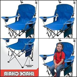 Portable Folding Camp Chair With Canopy Umbrella Camping Bea