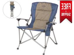 Portable Folding Camping Chair Beach Outdoor Patio Steel Lig