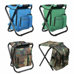 Portable Folding Camping Chair Stool Backpack Travel Hiking