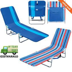Portable Folding Lounge Backpack Beach Chair w/ Backpack Str