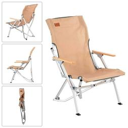 Portable Folding Low Camping Chair Outdoor Picnic Beach Alum