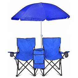 portable folding picnic double chair