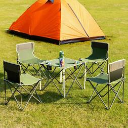 Portable Folding Table Chairs Set Outdoor Camp Beach Picnic