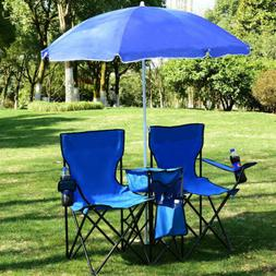Portable Outdoor 2-Seat Foldin Chair with Removableg Beach F