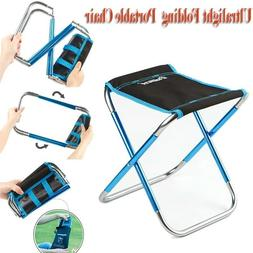 Portable Outdoor Folding Chair Camping Mini Seat Fishing Tra