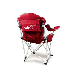 Picnic Time Portable Reclining Camp Chair, Coca-Cola