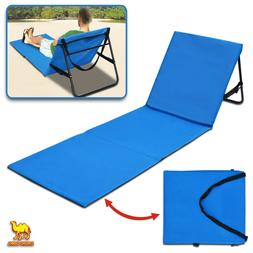 Portable Reclining Lounger Beach Chair Backrest Garden Adjus