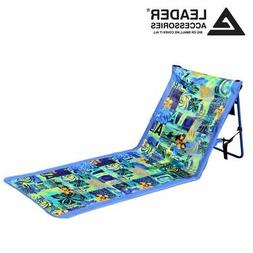 Portable Reclining Lounger Beach Chair Sporting Blue,W/O Arm