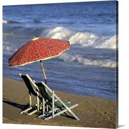 Solid-Faced Canvas Print Wall Art entitled Lounge chairs und