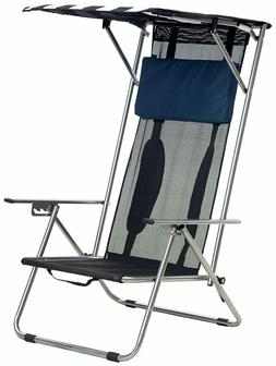 Quik Shade Beach Recliner Shade Chair Supports Weight up to