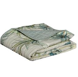 "Tommy Bahama Serenity Palms Throw Blanket, 50"" x 60"", Aqua"