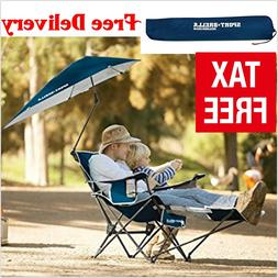 Recliner Chair with Umbrella Footrest reclining lounge outdo