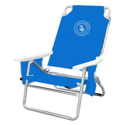 Reclining Beach Chair 5 Position Portable With Padded Should