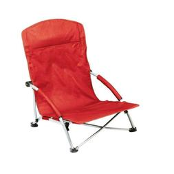Red Tranquility Portable Beach Patio Chair