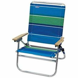 Rio Beach 4-Position Easy In-Easy Out Folding Chair Stripe S