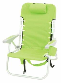 Rio Beach Lace-Up Suspension Solid Lime backpack chair