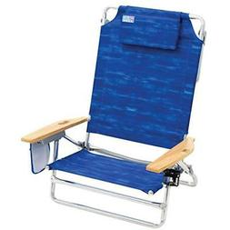 Rio Chairs Beach Big Kahuna Extra Large Folding Chair, Blue