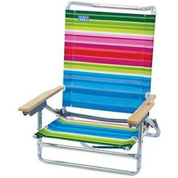 Rio Chairs Beach Classic 5 Position Lay Flat Folding Sports