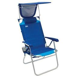 "Rio Chairs Beach Hi-Boy High Seat 17"" Folding With Canopy Sp"