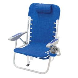 RIO Gear Lace-Up Aluminum Beach Backpack Chair, Blue