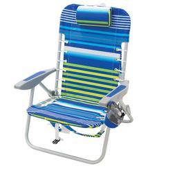 RIO Gear Lace-Up Aluminum Beach Backpack Chair, Stripe