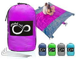Sand Free Compact Outdoor Beach / Picnic Blanket- Huge-9'
