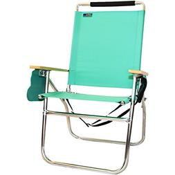 18 Inches High Seat Big Tycoon Beach Chair - Mint Green