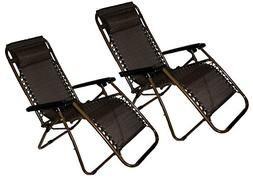 Set of 2: Zero-Gravity Beach Lawn and Yard Patio Chair with