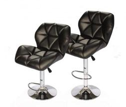 SET of  Bar Stools Leather Hydraulic Swivel Dinning Chair Ba