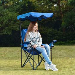 ALPHA CAMP Shade Canopy Chair, Folding Camping Chair Support