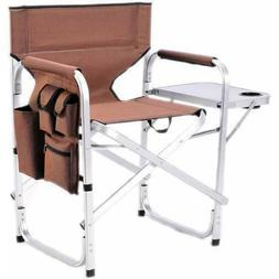 Stylish Camping SL1204BROWN Full Back Folding Director's Cha