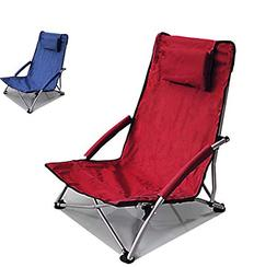 Hello Journey Low Sling Beach Chair Folding Red